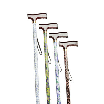 Aluminium Walking Stick   Patterned Stem