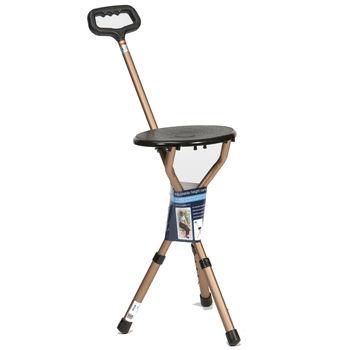 Folding Adjustable Walking Stick Seat