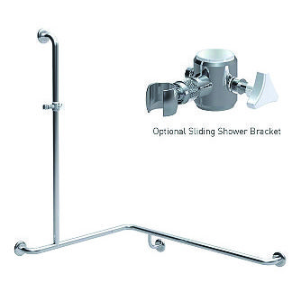 Shower Grabrail  Corner with Vertical Rail