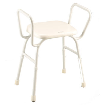 Shower Stool Arms and Padded Seat