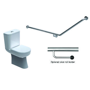 Toilet Grabrail 40 Bend End Mount
