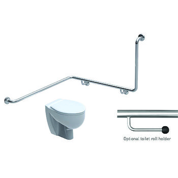 Toilet Grabrail 90 Bend with Rear Rail