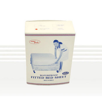 Vinyl Fitted Sheet   Economy
