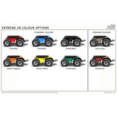 Extreme X8 Power Wheelchair Colour Swatch