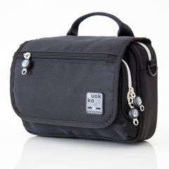 Quokka Horizontal Black Wheelchair Bag