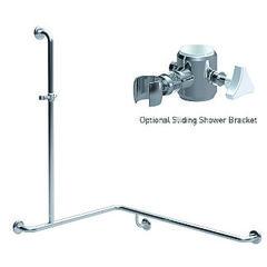 Shower Grabrail - Corner with Vertical Rail