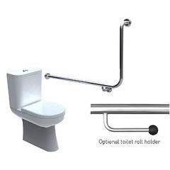 Toilet Grabrail 90° Bend End Mount