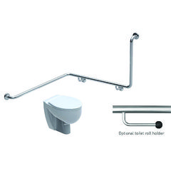 Toilet Grabrail 90° Bend with Rear Rail