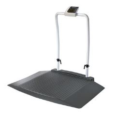 Wheelchair Scale with two wide access ramps